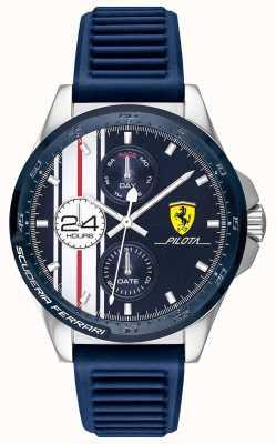 Scuderia Ferrari | heren pilota | blauwe rubberen band | blauwe chronograaf wijzerplaat | 0830660