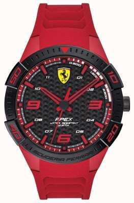 Scuderia Ferrari | top voor heren | rode rubberen band | zwarte / rode wijzerplaat | 0830664