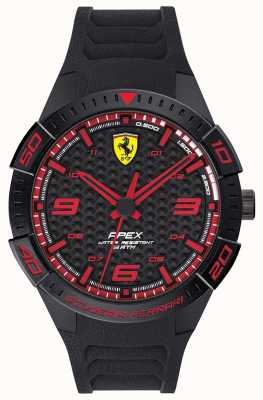 Scuderia Ferrari | top voor heren | zwarte rubberen band | zwarte / rode wijzerplaat | 0830662