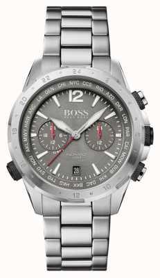 BOSS | nomade | chronograaf | stalen armband | grijze wijzerplaat | 1513774