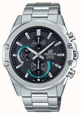Casio | bouwwerk | klassiek | chronograaf | stalen armband | EFR-S567D-1AVUEF