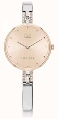 Tommy Hilfiger Kit | roestvrijstalen armband | rose gouden wijzerplaat | 1782138