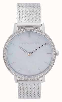 Rebecca Minkoff | grote dames | stalen gaas armband | parelmoer wijzerplaat 2200367