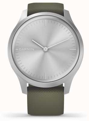 Garmin Vivomove-stijl | zilveren aluminium kast | mos siliconen band 010-02240-01