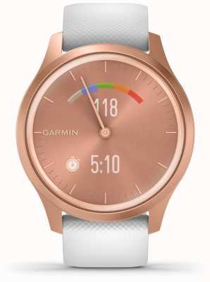 Garmin Vivomove-stijl | rosé gouden aluminium kast | witte riem 010-02240-00