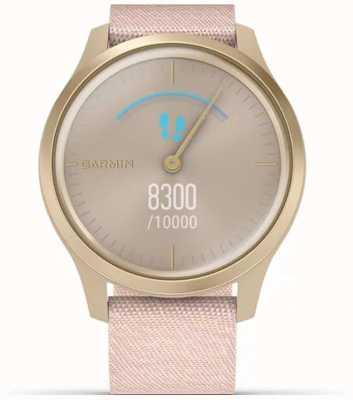 Garmin Vivomove-stijl | licht gouden aluminium kast | roze riem 010-02240-02
