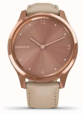 Garmin Vivomove luxe | 18kt rosé goud pvd hoesje | Italiaans leer 010-02241-01