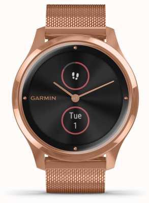 Garmin Vivomove luxe | 18ct pvd hoesje | rosé gouden milanese band 010-02241-04