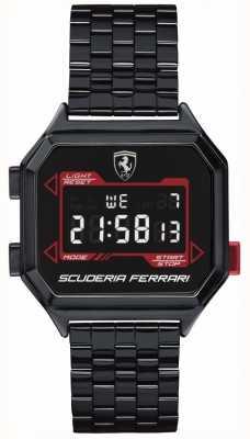 Scuderia Ferrari | heren digidrive | ion vergulde armband | zwarte wijzerplaat | 0830704