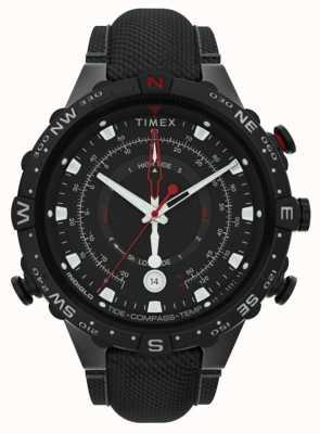 Timex | geallieerde 45mm | zwarte stoffen band | zwarte wijzerplaat | TW2T76400