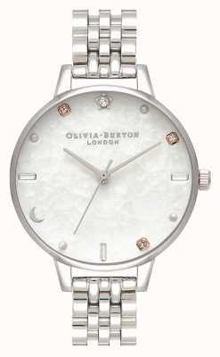Olivia Burton | hemelse ster en maan zilveren armband | parelmoer OB16GD30