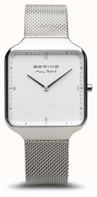 Bering   max rené   gepolijst zilver   zilveren mesh armband   15836-004