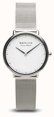 Bering | max rené | dames gepolijst zilver | stalen gaas armband | 15730-004