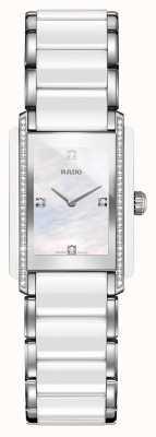 Rado Integraal diamanten high-tech keramisch horloge met vierkante wijzerplaat R20215902