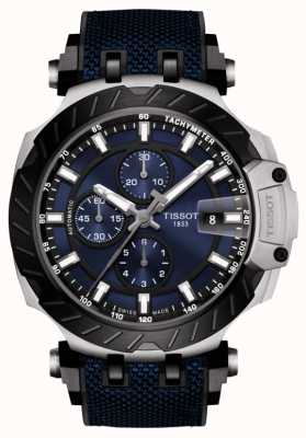 Tissot | t-race | automatische chronograaf | blauwe rubberen band | T1154272704100