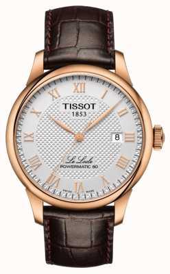Tissot | le locle | powermatic 80 | bruine lederen band | T0064073603300