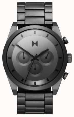 MVMT Element chrono | grijze roestvrijstalen armband | grijze wijzerplaat 28000048-D