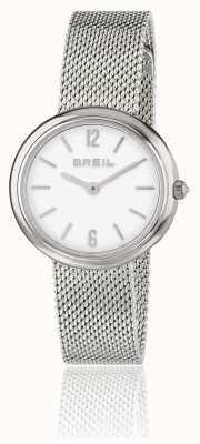 Breil Iris witte wijzerplaat roestvrij stalen gaas armband TW1776