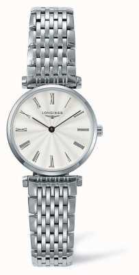 Longines Elegantie klassieke zilveren band | wit gezicht | L42094716