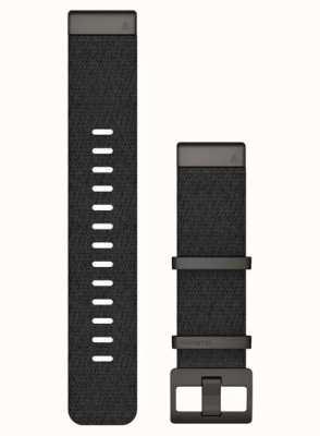 Garmin Alleen Quickfit 22 horlogeband, jacquard geweven nylon band - gemêleerd zwart 010-12738-03