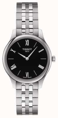 Tissot | vrouwentraditie | roestvrijstalen armband | zwarte wijzerplaat T0632091105800