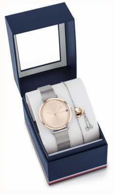 Tommy Hilfiger Dames pippa horloge en armband cadeauset 2770053