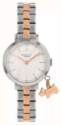 Radley Selby straat | tweekleurige stalen armband | witte wijzerplaat RY4397