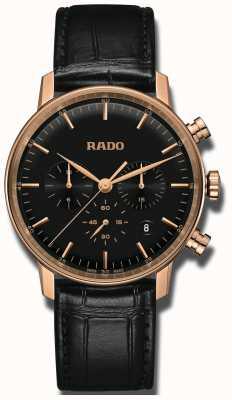 Rado Coupole klassieke quartz chronograaf zwarte wijzerplaat R22911165