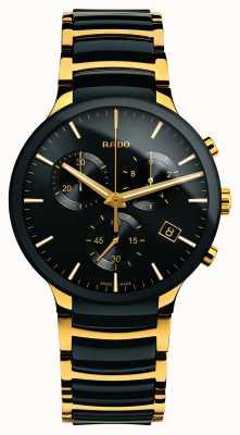 RADO Centrix chronograaf XL goudkleurig hightech keramiek R30134162