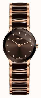 RADO Centrix diamanten wit keramiek en roségoud R30190702