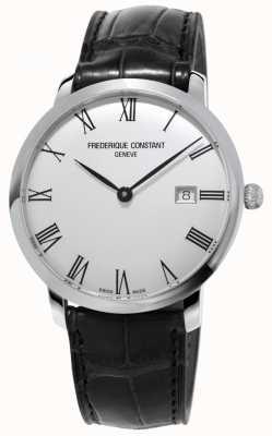 Frederique Constant Heren | slimline | automatisch | zwart leer | zilveren wijzerplaat FC-306MR4S6