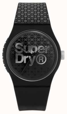Superdry Stedelijke geosport | zwart / grijze siliconen band | zwart / grijze wijzerplaat SYG268B