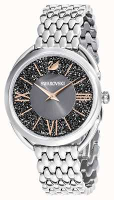 Swarovski | kristallijne glam | roestvrij stalen armband | grijze wijzerplaat 5452468