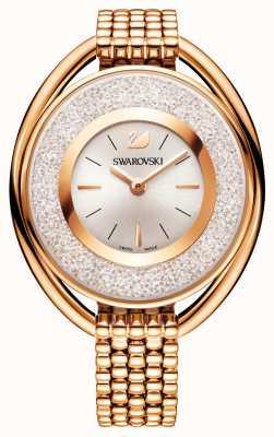 Swarovski | kristallijn | ovaal | rosé vergulde armband | witte wijzerplaat 5200341
