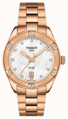 Tissot | pr 100 sport chic | rosé gouden armband | ex display model T1019103311600EX-DISPLAY