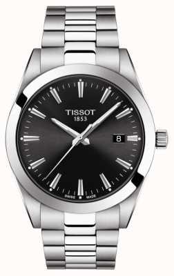 Tissot | heer | roestvrij stalen armband | zwarte wijzerplaat | T1274101105100