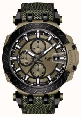 Tissot | t-race | automatische chronograaf | groene rubberen band | T1154273709100