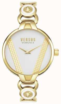 Versus Versace | saint germain | goudkleurig roestvrij staal | zwarte wijzerplaat | VSPER0319