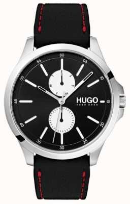 HUGO #jump | zwarte rubberen band | zwarte wijzerplaat | 1530001