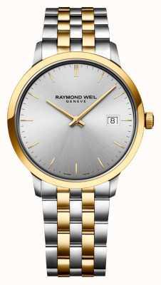 Raymond Weil | heren toccata | tweekleurig roestvrij staal | zilveren wijzerplaat | 5485-STP-65001