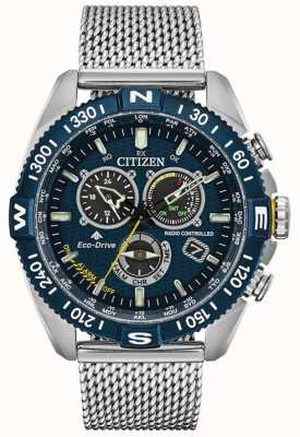 Citizen Navihawk heren bij Promaster roestvrijstalen horloge met blauwe wijzerplaat CB5846-52L