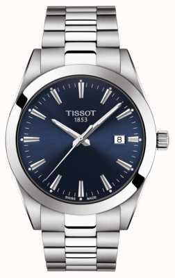 Tissot | heer | roestvrij stalen armband | blauwe wijzerplaat | T1274101104100