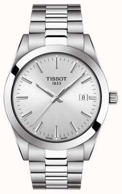 Tissot | heer | roestvrijstalen armband | zilveren wijzerplaat | T1274101103100