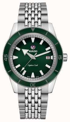 Rado XL 'Captain Cook' roestvrijstalen armband met groene wijzerplaat R32505313