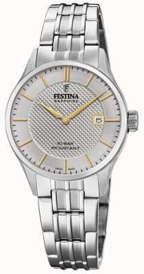 Festina | dames zwitsers gemaakt | roestvrij stalen armband | zilveren wijzerplaat F20006/2