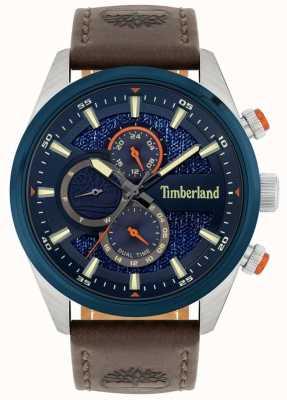 Timberland | heren ridgeview | bruine lederen band | marine wijzerplaat | 15953JSTBL/03