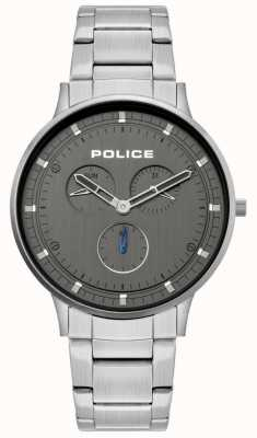 Police | heren Berkeley | roestvrij stalen armband | grijze wijzerplaat | 15968JS/39M