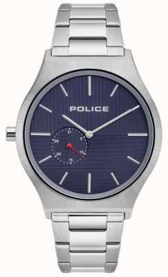 Police | mannen orkneys | roestvrij stalen armband | marine wijzerplaat | 15965JS/03M