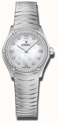 EBEL | klassieker voor dames | roestvrij staal | diamanten set wijzerplaat 1216475A
