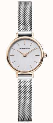 Bering | damesschrijver uit de klassieke oudheid stalen gaas armband | grijze wijzerplaat | 11022-064